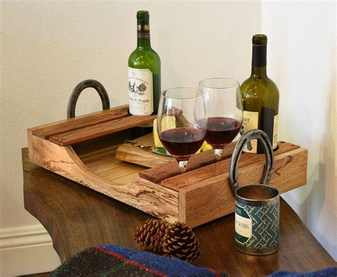 Diy Wood Wine Bottle Cheese Tray